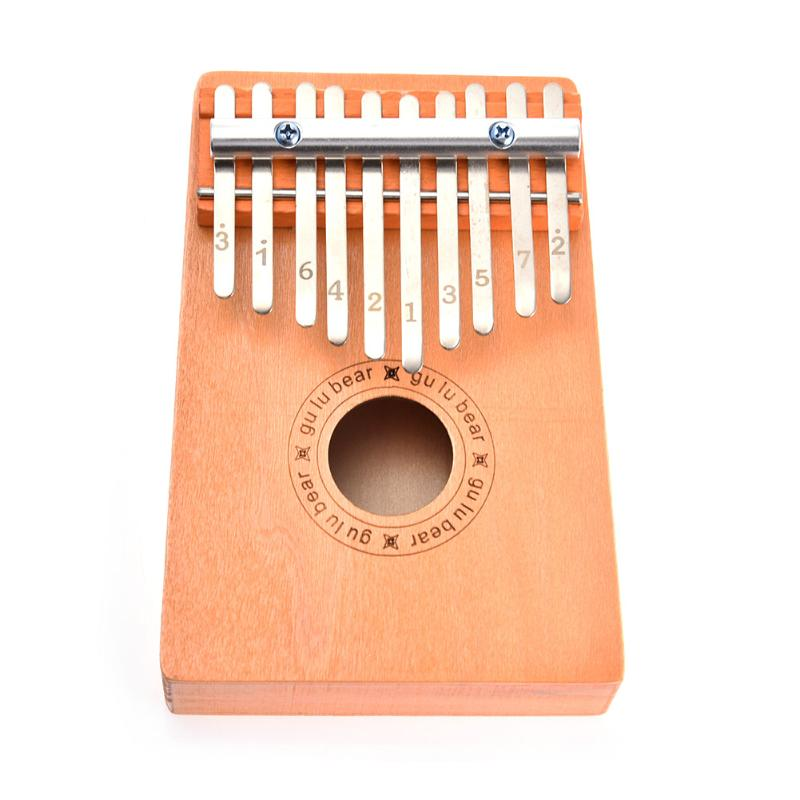 10 Keys Kalimba Pocket Mini Thumb Piano African Traditional Musical Instrument Children Kid Toys Gifts