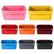 Multifunction Handbag Organizer Purse Insert Bag Felt Fabric Storage Pouch Case LX9F