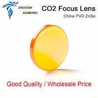 Lente láser CO2 China PVD ZnSe diámetro de la lente 20 19,05 18 12 enfoque longitud Focal de la lente 38,1 50,8 63,5 76,2 101,6mm 1,5-4 pulgadas