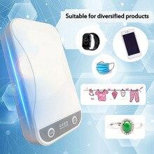 UV אור פנים מסכת מעקר תיבת חיידקים אנטי אולטרה סגול Ray חיטוי עבור תכשיטי שעון טלפון ארומתרפיה Esterilizador