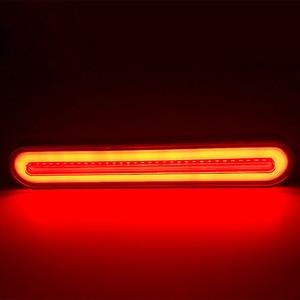 Image 4 - 2x Waterproof LED קרוואן משאית בלם אור 3 in1 ניאון Halo טבעת זנב בלם עצור הפעל אור סדרתית זורם אות אור מנורה