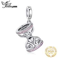 JewelryPalace Hourglass 925 Sterling Silver Beads Charms Original Fit Bracelet original For Jewelry Making