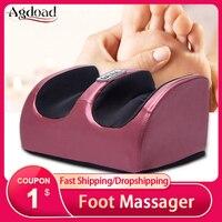 Máquina eléctrica de masaje Shiatsu para terapia de pies unisex, masajeador de pies, rodillo calentador para aliviar la fatiga de piernas, para regalo