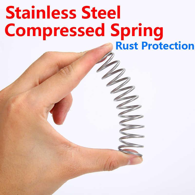 Y-tipo mola de pressão de aço inoxidável 304 sus comprimida mola de compressão de aço inoxidável diâmetro do fio 0.5mm 10 pces