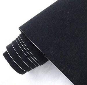 Image 3 - פרימיום איכות שחור קטיפה ויניל לעטוף סרט קטיפה סרט דביק מדבקה לרכב שנינות משלוח בועות 10/20/30/40/50/60x13 5 cm/lot