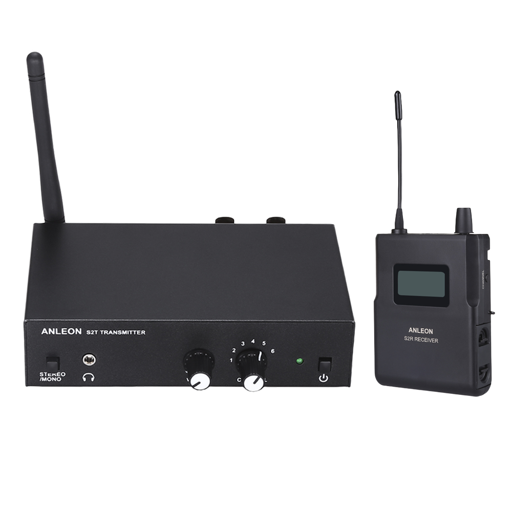 Original ANLEON S2 UHF Stereo Wireless <font><b>Monitor</b></font> <font><b>System</b></font> 4 Frequenzen Professionelle Digitale Bühne <font><b>In</b></font>-ohr <font><b>Monitor</b></font> <font><b>System</b></font> Kits image