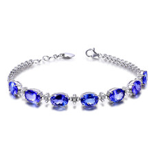 925 Sterling Silver Ladies Bracelet Colored Gemstones Exquisite Fashion Bracelets To Send Surprise Birthday Anniversary