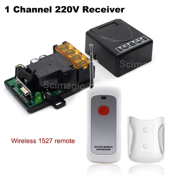 цена на 1 Pcs RF Transmitter 433 Mhz Remote Controls with Wireless Remote Control Switch AC 220V 1CH relay Receiver Module