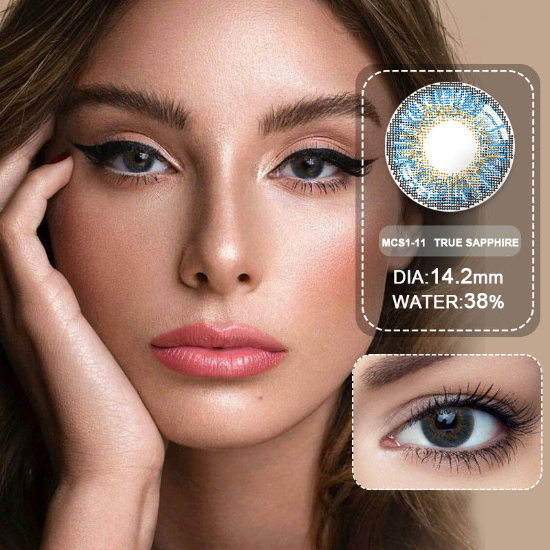 (Wholesale) Colored Contacts/Circle Lenses 2pcs/Pair Contact Lenses For Eyes Non Prescription Color Contact Lens With Free Case 2