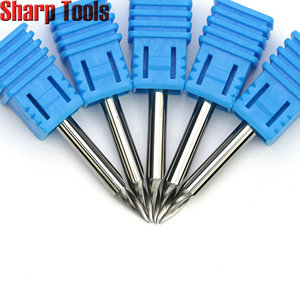 Image 4 - 0.2 0.5mm Tip 3.175*30 Angle V Carving 1 Flute Spiral Carbide Engraving Bits CNC Router Tools Grooving Milling Cutters for Metal