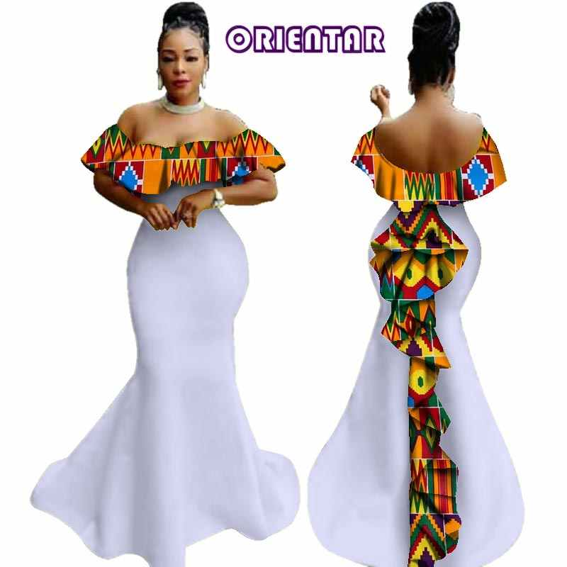 African Dress with Ruffles