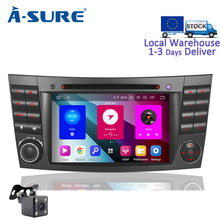 A-Sure 8 Core 4G RAM 2 Din Android 9.0 Auto Radio GPS DVD Player Navigation For Mercedes Benz E-Class CLS Class G-Class W211 RDS