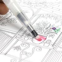 3 morceaux Marqueurs de pinceau portables peinture pinceau aquarelle pinceau aquarelle doux stylo police artistique étudiants papeterie 6