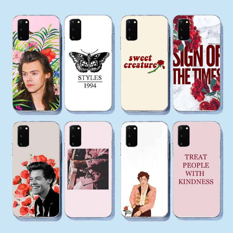 PENGHUWAN <font><b>Harry</b></font> <font><b>Styles</b></font> Customer High Quality <font><b>Phone</b></font> <font><b>Case</b></font> for <font><b>Samsung</b></font> S9 plus <font><b>S5</b></font> S6 S7 edge S8 S10 plus image