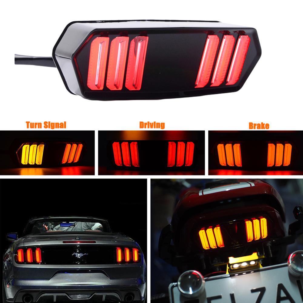 2Pcs Motorcycle LED Tail Light Running Stop Brake Rear Warning Turn Signal Indicator Lamp For Honda Grom MSX125 CBR650F CTX700N