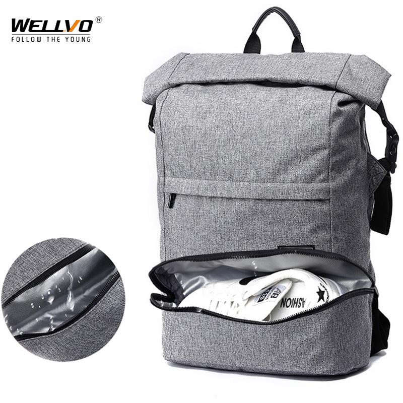 Large Capacity Men Backpack 17Inch Laptop Travel Bags For Man Dry Wet Students Anti Theft Bag Daypacks Mochila Masculina XA614ZC