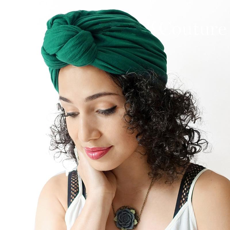 African Twist Headwrap Women Bohemian Knot Turban Tie Muslim Scarf Ladies Hair Accessories India Chemo Cap Stretch Hijab Scarf