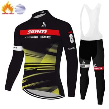 Conjunto de Ropa de ciclismo para hombre, JERSEY de equipo Scottes, pantalones...