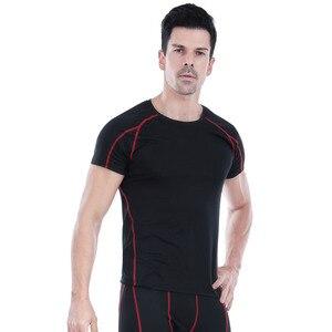 Image 5 - Acefancy 黒警官トップ圧縮ショート Leeve Tシャツためブルマストレッチトップス 71605 男性スポーツウェアジム服