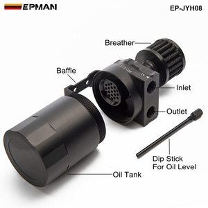 Image 2 - Depósito Universal de aluminio para tanque de aceite + filtro de respiración Color: negro, rojo, azul, dorado, PLATA VERDE, Morado, EP JYH08