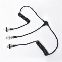 Çift kafa Seafrogs dalış su geçirmez el feneri bağlantı hattı 5 pin Sync kablosu yıldırım iletken kablo A7 Fuji Sony Nikon