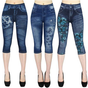Jeans Pants Jeggings Trending-Products High-Waist Femme Summer Women Casual 3 for's False