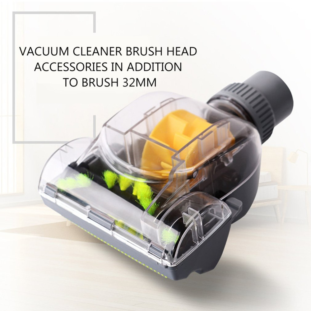 New Vacuum Cleaner Brush Household 32MM Vacuum Cleaner Turbo Floor  Accessories Mini Turbo Floor Brush For Pet Hair Dirt Removal