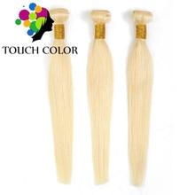 613 Blonde Human Hair Bundles Extension Peruvian Straight Weave For Black Women Remy Bundle Double Weft