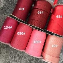 """25 ярдов/рулон полиэстер 5/""""(15 мм) атласная косая лента косая Привязка сплошной цвет для пошив одежды «сделай сам» и обрезки"""