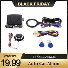 Alarma de coche para coche, botón de inicio y parada Starline, bloqueo RFID, interruptor de encendido, sistema de entrada sin llave, sistema antirrobo de arranque