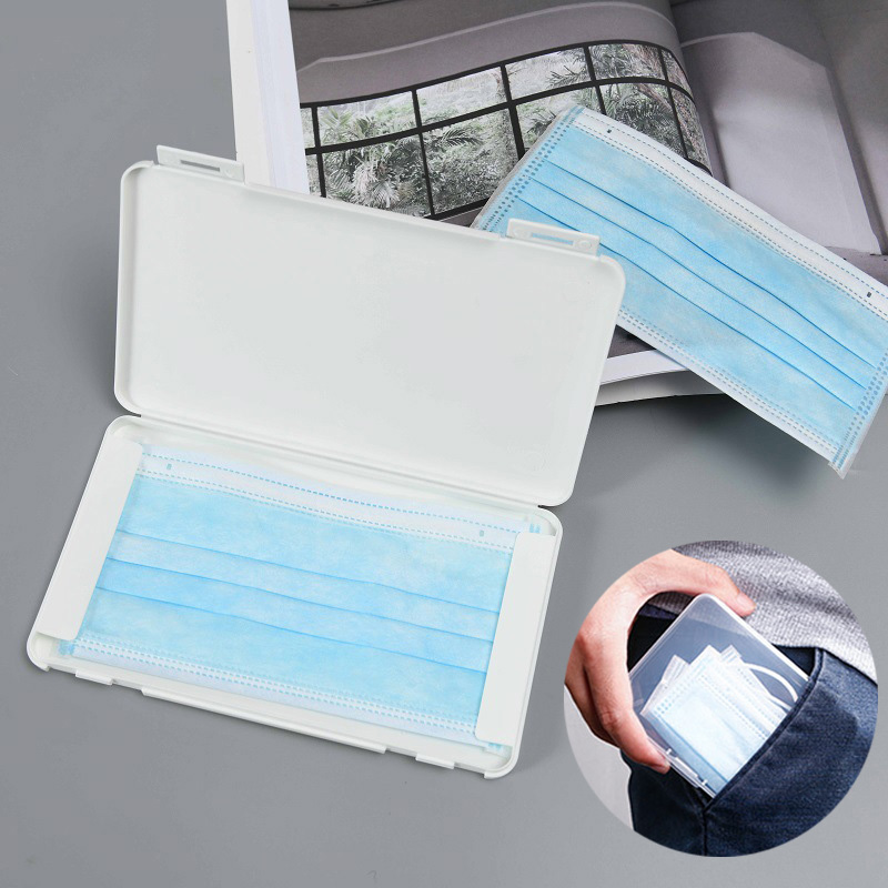 Portable Dustproof Mask Case Disposable Mask Storage Box Organizer Face Masks Storage Container For Travel Shopping Office