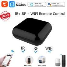Tuya/vida inteligente wifi + rf + ir inteligente controle remoto aparelhos rf app controle de voz trabalho com alexa google casa