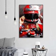 Moderne Home Decor Niki Lauda F1 Abstract Poster Canvas Schilderij Hd Prints Modulaire Wall Art Foto Woonkamer Decoratie Frames