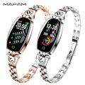 MAFAM H8 фитнес браслет для женщин дешевый смарт часы женские на русском водонепроницаемые для айфона с измерением давления умные часы смарт д...
