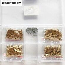 QSUPOKEY جديد 200 قطعة/الوحدة HY22 سيارة قفل القصب لوحة ل هيونداي/IX30/35/S8/K5/فيرنا/جديد سبورتاج النحاس المواد إصلاح أطقم