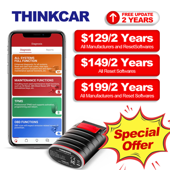 THINKCAR Thinkdiag Diagnostic Scanner for Car 15 Reset Services OBD2 Bluetooth Code Reader Full System OBDii Scan Tools for Auto new thinkcar thinkdiag same as easydiag 3 0 x431 bluetooth adapter update online full system obd2 scanner diagnostic tool