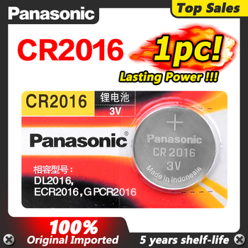 Panasonic Top Quality Lithium Battery 3V cr2016 Button Battery Watch Coin Batteries cr 2016 DL2016 ECR2016 For Main Board Toy image