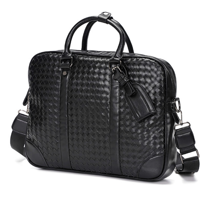 Tidog Fashion Casual Hand - Woven Leather Briefcase