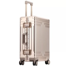 Новый высококачественный Дорожный чемодан из 100% алюминия и магния, брендовый чемодан на колесиках 20/24/28 дюймов, чемодан Спиннер для багажа на колесиках