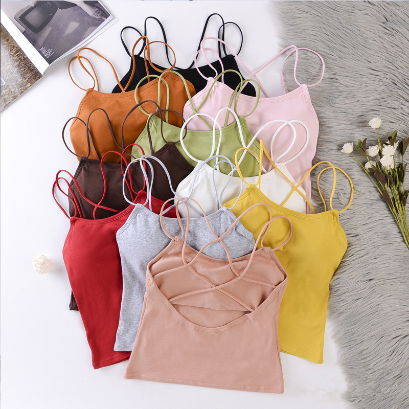 Women Tank Crop Top Sexy Sleeveless Cami Tee Tops Female Sexy Lingerie Top Womens Camisole Femme 2020