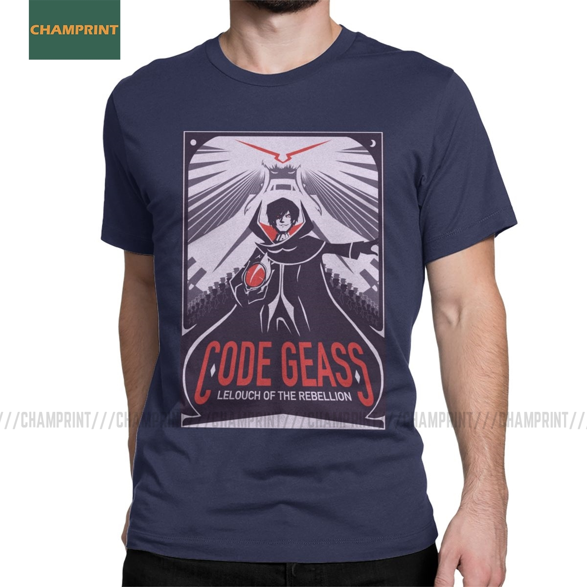 Code Geass Man Vintage Soft Short Sleeve T-Shirt Tee Black