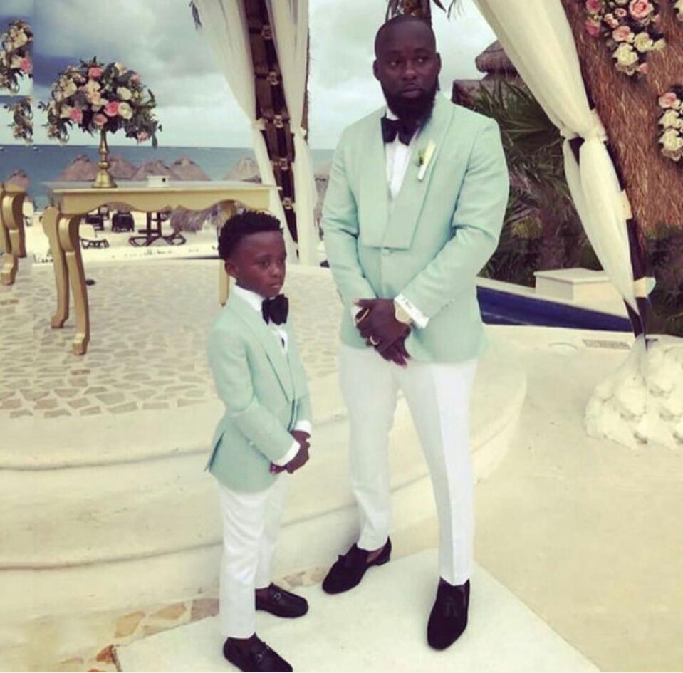 2020 Mint Green 2 Pcs Mens Tuxedo Groom Suits Men for Wedding Boy Suits Best Man Blazer Jacket Pants Prom Party Terno Masculino