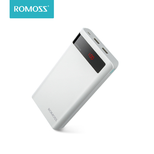 20000 мАч ROMOSS Sense 6 P power Bank Dual USB портативный внешний аккумулятор со светодиодный ным дисплеем быстрое портативное зарядное устройство для теле...