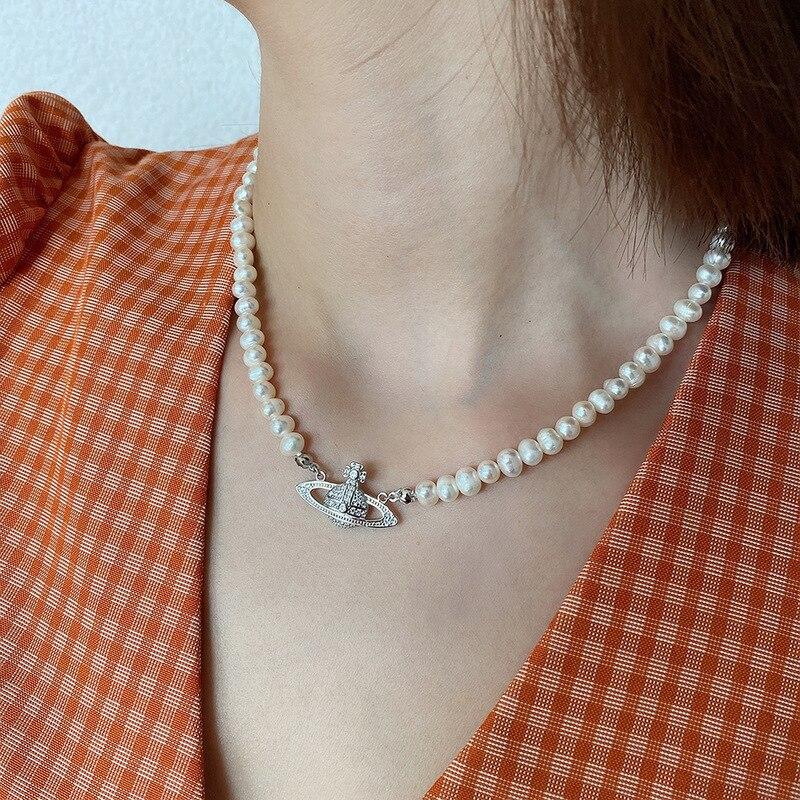 Короткое ожерелье с жемчугом в стиле ретро, женское свадебное ювелирное изделие, роскошная цепочка-чокер для женщин и девочек, подарок на де...