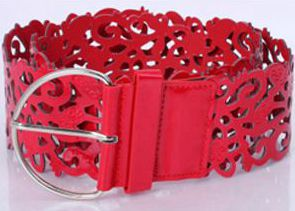 Модный ажурный декоративный широкий пояс, женский пояс, модный кожаный пояс, ретро пояс - Цвет: red