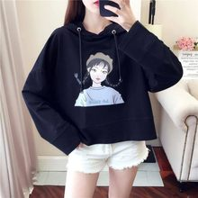Harajuku Autumn Women Hoodies Kawaii Loose Hooded Pullovers Hip Hop Sweatshirt Long Sleeve Warm Clothes Tops(China)
