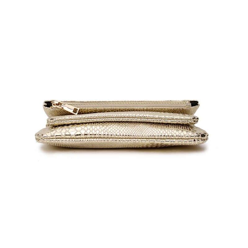 SMILEY LUCE DEL SOLE in oro crossbody bag per le donne 2020 di moda femminile signore di sacchetto del messaggero piccola borsa borse a mano della frizione del sacchetto di serpente