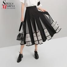 coreana mujer falda para