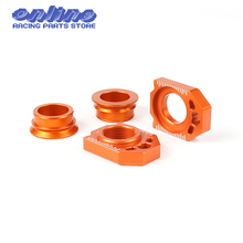CNC Rear Chain Adjuster Axle Block And Rear Axle Wheel Hub Spacers For SX SX-F XC XC-F 125 250 350 450 530 Motorcycle