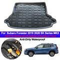Para Subaru Forester 2019 2020 SK serie MK5 arranque trasero de coche revestimiento de carga maletero suelo alfombras alfombrillas de bandeja alfombrilla alfombra estilo automático